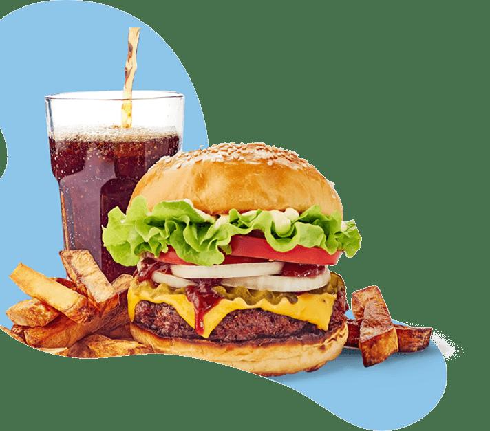 Burger mit Cola